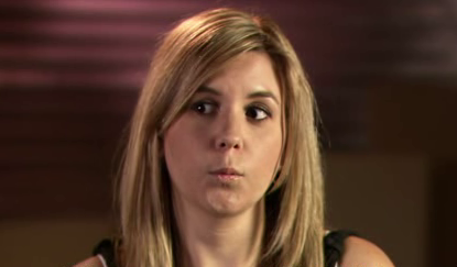 Cute profile pic of Brandi during an interview on Storage Wars.